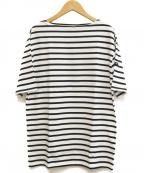 SAINT JAMES(セントジェームス)の古着「ボーダーTシャツ」 ホワイト×ブラック