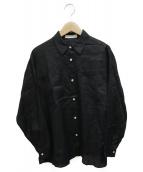 Demi-Luxe BEAMS(デミルクスビームス)の古着「ラミーダブルポケットシャツ」 ブラック