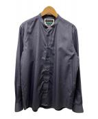 ()の古着「バンドカラーシャツ」|ネイビー