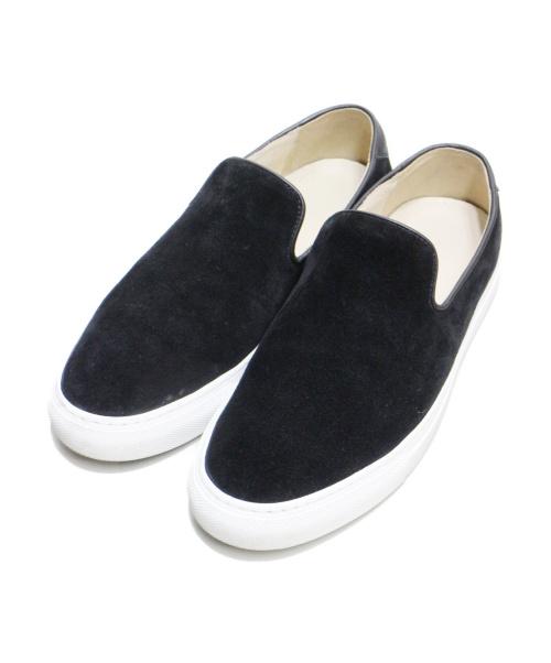 C.QP(シーキューピー)C.QP (シーキューピー) スウェードスリッポン ブラック サイズ:39 JETTYの古着・服飾アイテム