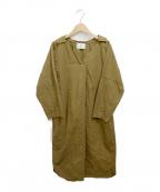 1er Arrondissement(プルミエ アロンディスモン)の古着「製品染めシャツワンピース」|カーキ