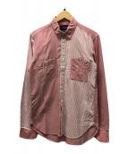 ()の古着「切替シャツ」 ピンク