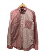 MIHARA YASUHIRO(ミハラヤスヒロ)の古着「切替シャツ」|ピンク