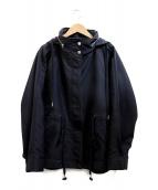 VERMEIL par iena(ヴェルメイユ パーイエナ)の古着「ダブルクロスフーディーブルゾン」|ブラック