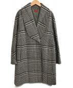 DES PRES(デプレ)の古着「グレンチェックコート」|ブラック
