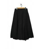 1er Arrondissement(プルミエ アロンディスモン)の古着「リネンポプリンフレアスカート」|ブラック