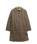 MACKINTOSH()の古着「リネン混ステンカラーコート」 ブラウン