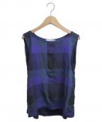 mina perhonen()の古着「ノースリーブブラウス」|ブルー