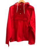 Battenwear(バテンウェア)の古着「アノラックパーカー」|レッド