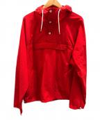 Battenwear(バテンウェア)の古着「アノラックパーカー」 レッド