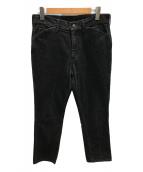 ()の古着「センタープレスデニムパンツ」|ブラック