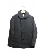 ORCIVAL(オーシバル)の古着「メルトンシングルフードPコート」|グレー
