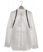 Maison Margiela 1(メゾンマルジェラ1)の古着「グログラントリミングシャツ」|ホワイト