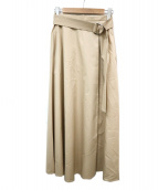 CINOH(チノ)の古着「TULFUNタイプライタータックロングスカート」 ベージュ