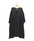 SUZUKI TAKAYUKI(スズキタカユキ)の古着「CHASUBLE DRESS」 ブラック