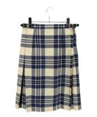 ONEIL OF DUBLIN(オニール オブ ダブリン)の古着「キルトスカート」|アイボリー