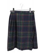 ONEIL OF DUBLIN(オニール オブ ダブリン)の古着「キルトスカート」|ネイビー