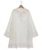 INSCRIRE(アンスクリア)の古着「スキッパーチュニック」|ホワイト