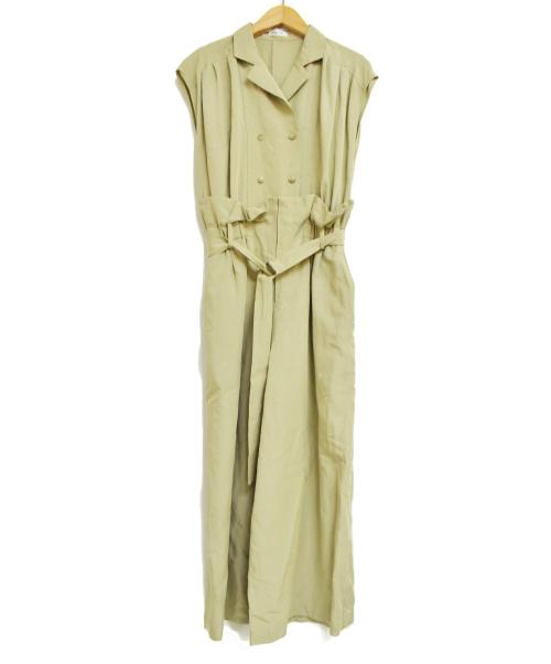FRAY ID(フレイアイディー)FRAY ID (フレイアイディー) 開襟シャツオールインワン カーキ サイズ:1の古着・服飾アイテム