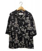 ()の古着「オープンカラーアロハシャツ」|ブラック