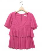 SONIA RYKIEL(ソニア リキエル)の古着「ティアードブラウス」|ピンク