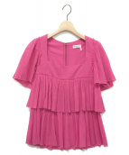 SONIA RYKIEL(ソニアリキエル)の古着「ティアードブラウス」|ピンク