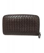BOTTEGA VENETA(ボッテガヴェネタ)の古着「ラウンドジップ長財布」|ブラウン
