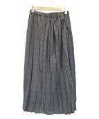 mizuiro-ind(ミズイロインド)の古着「グレンチェックロングスカート」|グレー
