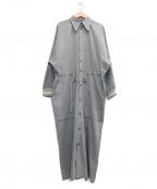 Ujoh(ウジョー)の古着「ドローコードシャツドレス」|グレー