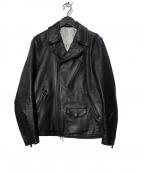 MORGAN HOMME(モルガンオム)の古着「ダブルライダースジャケット」|ブラック