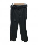 MHL(エムエイチエル)の古着「ベルテッドコットンパンツ」|ブラック