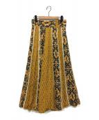 muller of yoshiokubo(ミュラーオブヨシオクボ)の古着「Savanna lace mix skirt」|マスタード