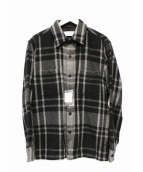 ()の古着「カシミヤシャツジャケット」 グレー