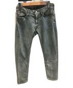 ()の古着「USED加工スリムデニムパンツ」|インディゴ