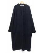 COGTHEBIGSMOKE(コグザビッグスモーク)の古着「ノーカラーコート」|ブラック