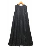 BEAUTY&YOUTH(ビューティアンドユース)の古着「ラミーノースリーブフレアワンピース」 ブラック