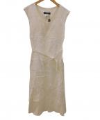 WEEKEND Max Mara(ウィークエンド マックスマーラ)の古着「リネンフレンチスリーブワンピース」|ホワイト