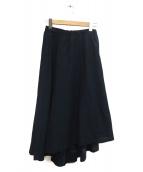 PALLAS PALACE(パラスパレス)の古着「インディゴ染めアシンメトリースカート」|ネイビー