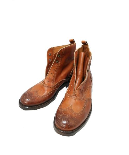 SARTORE(サルトル)SARTORE (サルトル) ウィングチップショートブーツ ブラウン サイズ:35 イタリア製の古着・服飾アイテム