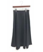 ENFOLD(エンフォルド)の古着「フレアスカート」|ブラック