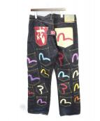 EVISU(エヴィス)の古着「メニーポケットデニムパンツ」|インディゴ
