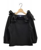 M'S GRACY(エムズグレイシー)の古着「ショルダーリボンブラウス」 ブラック