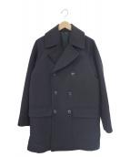 COMOLI(コモリ)の古着「キャバリーメルトンダブルブレステッドコート」|ネイビー