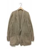 Y's(ワイズ)の古着「リネンオーバーテーラードジャケット」 ブラウン