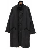 ISSEY MIYAKE MEN(イッセイミヤケメン)の古着「フェイクファーロングコート」 ブラック