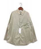 Graphpaper(グラフペーパー)の古着「ブロードオーバーサイズレギュラーカラーシャツ」 ベージュ