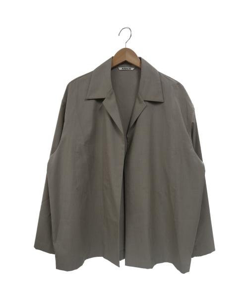 AURALEE(オーラリー)AURALEE (オーラリー) シルクウールトロピカルシャツジャケット ベージュ サイズ:4の古着・服飾アイテム