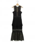 SELF PORTRAIT(セルフ ポートレイト)の古着「カットワークワンピース」|ブラック