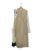 IRENE(アイレネ)の古着「suit dress」|ベージュ