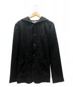 BLACK COMME des GARCONS(ブラックコムデギャルソン)の古着「ウールフードジャケット」|ブラック
